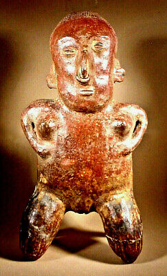 Tall Pre-Columbian Nayarit Female Figure Ex: Sotheby's '77