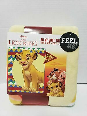 Disney The Lion King 2019 Young Simba Plush Silky Soft Throw Blanket 40x50