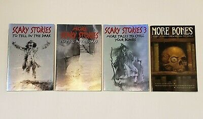 Lot Set SCARY STORIES TO TELL IN THE DARK Alvin Schwartz Stephen Gammell LARGER