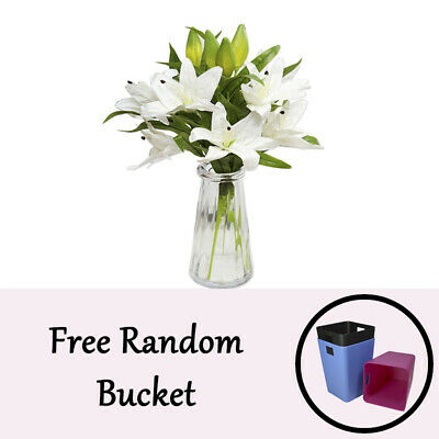 """Artificial Real Touch Latex Lily Flower Leaf Plant Bouquet Home Decor 39.5"""""""