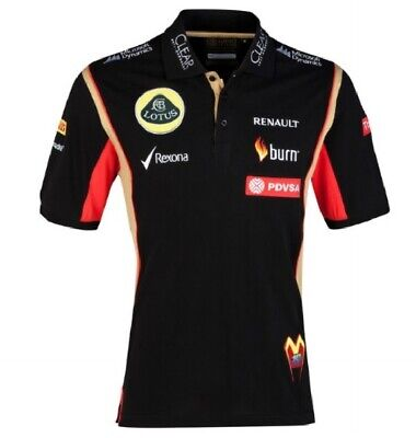 Polo Shirt Adult Formula One 1 Lotus F1 Team PDVSA Maldonado 2014/5 CA