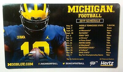 2019 Michigan Wolverines Football Schedule Magnet College Big 10 NCAA
