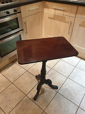 ANTIQUE 19thC MAHOGANY SQUARE TOPPED WINE TABLE SUPERB COUNTRY HOUSE PIECE