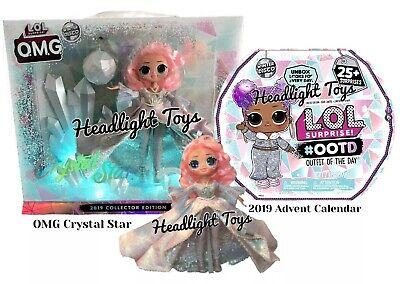 LOL Surprise OMG CRYSTAL STAR Doll + OOTD Advent Calendar Winter Disco Preorder