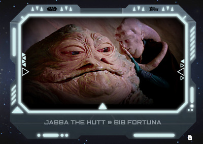 19 STAR WARS Card Trader Alliances of Evil Jabba The Hutt / Bib Fortuna WHITE