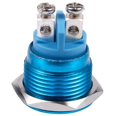 16mm Flush Mounted Momentary SPST Stainless Round Push Button Switch P6Z4
