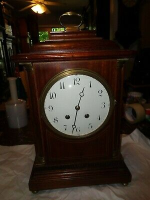 "Antique-French-Bracket Shelf Clock ""Japy"" Ca.1900-To Restore-#T763"