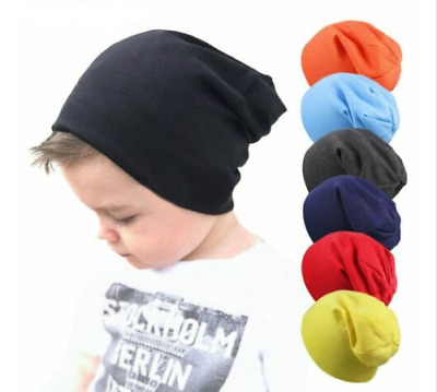 Cute Baby Warm Beanie Hats Autumn Winter Knit Plain Neck Scarf For Boy Girl Kids