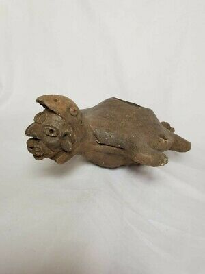 Pre-Columbian Mayan pottery turtle from Mexico. Ca. 700 ad.