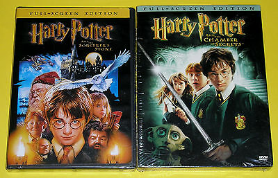Kid DVD Lot - Harry Potter and the Sorcerer's Stone Chamber of Secrets (FS, New)