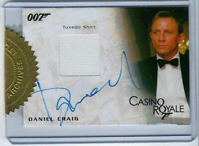 James Bond 007 Daniel Craig Auto Tuxedo Shirt #/150 Casino Royale