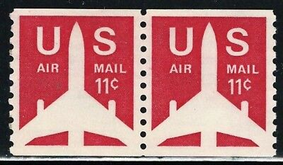 Nice Mint US Pair Of Air Mail Coil Stamps Scott# C82 (MNH)