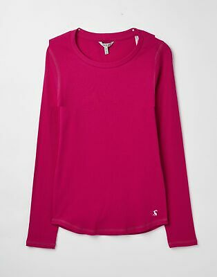 Joules 207373 Ribbed Top in DEEP FUCHSIA