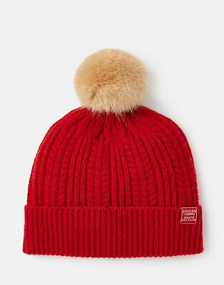 Joules 207389 Cable Hat in RED ROBIN in One Size
