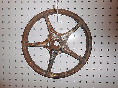 "VINTAGE USED INDUSTRIAL 10"" VALVE HANDLE --  4 or 5 SPOKE CHOICES (COLORS VARY)"