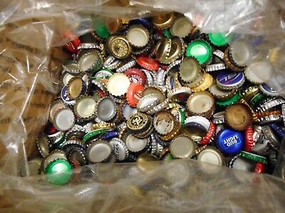 Lot Of 1500  Assorted   Beer Caps 7 1/2 Lbs  Mixed Micro And Major Breweries