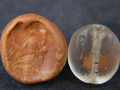 Ancient Crystal Bead Seal/Stamp Near Eastern C.300 BC #Ik831
