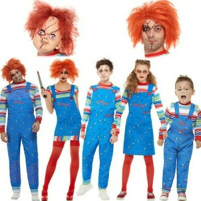 Family Chucky Costumes Accessories Fancy Dress Official