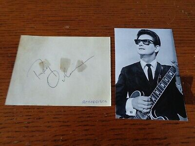 Roy Orbison  Autograph A Signed Autograph Book Page Circa Late 1960S Uk