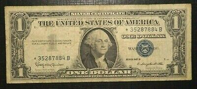 ☆ Silver Certificate Blue Seal 1 Dollar 1957 B UNITED STATES (245K)