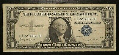 ☆ Silver Certificate Blue Seal 1 Dollar 1957 B UNITED STATES (281K)