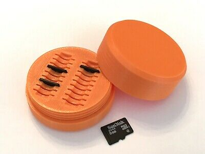 Caja Protectora Tarjetas Micro Sd Para 18 Unidades - Case Holder Naranja Orange