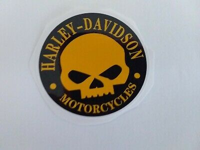 Harley Davidson Motorcycle skull face Vinyl Decal Sticker