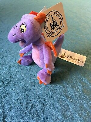 "Disney FIGMENT Epcot Magnet Plush Magnetic 4"" Cling Imagination Dragon Figure"