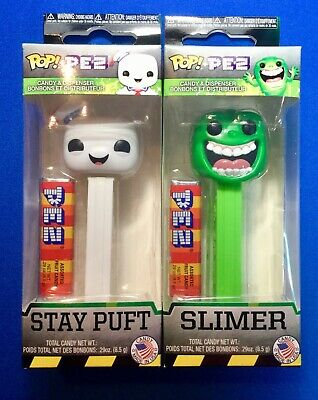 Funko Pop Pez Slimer and Stay Puft Ghostbusters