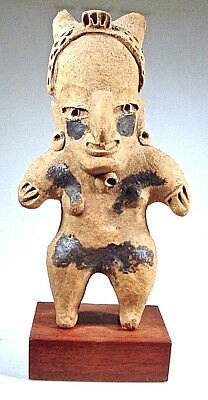 Pre-Columbian Early Vera Cruz Female Figure Coa