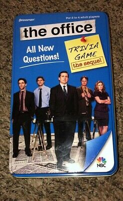 The Office Trivia Card Game The Sequel Blue Metal Tin New Sealed 2010 Board Game