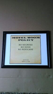 Segregation Jim Crow Sign In Frame