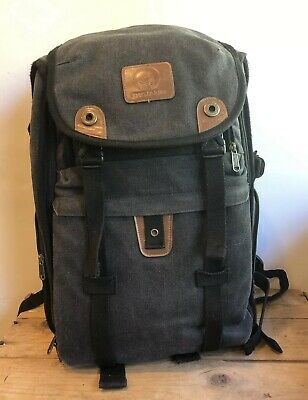 DIGIANT Large DSLR Camera Backpack Canvas Bag with Rain Cover Laptop Sleeve Lens