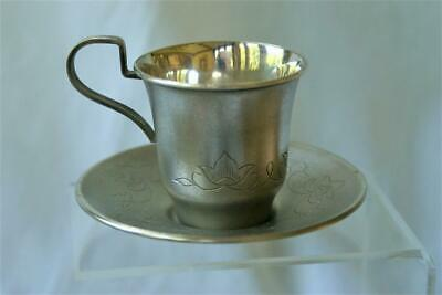 USSR Russian Silver Demitasse Cup/Saucer