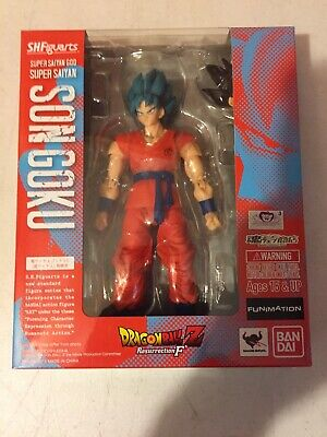 Bandai S.h. Figuarts Dragon Ball Z Super Saiyan God Son Goku Figure Us Seller