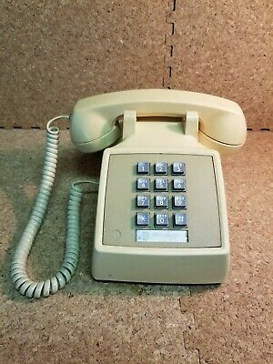 Vintage Western Bell System Electric Touch Tone Telephone 2500D Off White/Beige