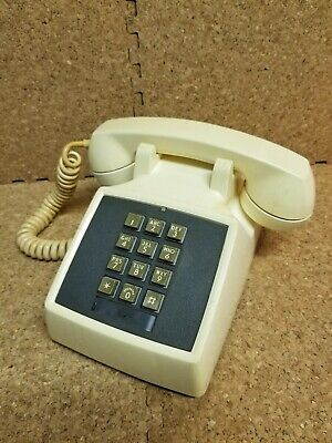 Vintage Western Bell System Electric Touch Tone Telephone 2500D Cream/Black