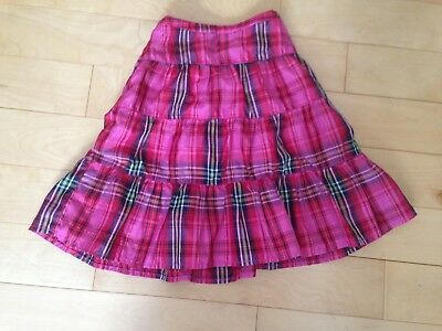 Baby Gap Girls Ruffle Skirt Plaid Pink Red Size 3t holiday