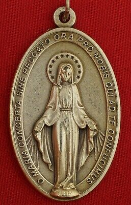 Vintage MIRACULOUS VIRGIN MARY MEDAL MARY CONCEIVED WITHOUT SIN MEDAL ITALY
