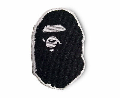 Ape Patch Bape Patch A Bathing Ape Patch Sew On Embroidered Black and White