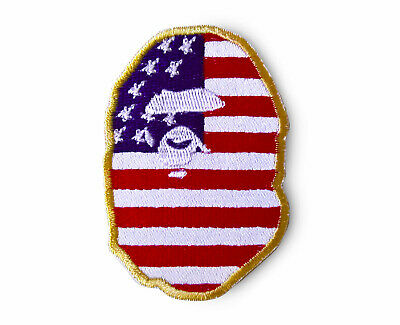 Ape Patch American flag collaboration Bape Patch A Bathing Ape Patch Sew On