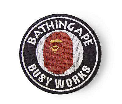 Ape Patch Bape Patch A Bathing Ape Busy Works Patch Sew On Embroidered Black
