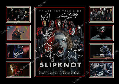 Slipknot We Are Not Your Kind 2019 Tour Memorabilia A4 Photo Print
