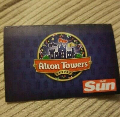 Alton Towers Ticket 11/10/19 - Friday 11Th October 2019 (Not E.tickets)