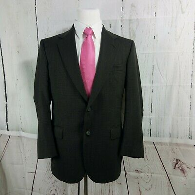 Stafford Traveler Plus 38R 2 Button Brown Twill Birdseye Suit Blazer Sports Coat
