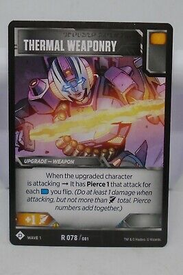 Thermal Weaponry Transformers TCG Wave 1 R 078//081 Rare