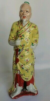 Vtg Chinese Porcelain Man Figurine Statues Signed in Chinese Characters & China