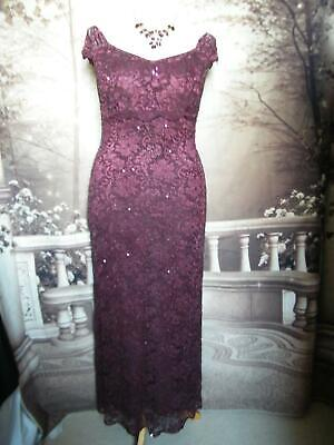 Phase Eight Ballgown/Dress size 14  Lace/Sequin/Beads Gatsby Downton 1920s Gown