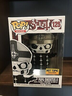 Funko Pop Rocks Ghost Papa Emeritus II Hot Topic Exclusive In Hand