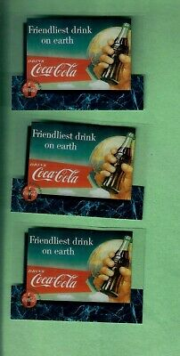 1995 Coca Cola Sprint Phone Cards Lot Of3 Cels Premier Edition Scoreboard Rare